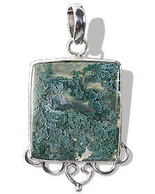 Design 9270: green,white moss agate pendants