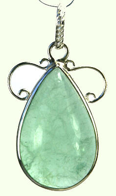 Design 9275: green fluorite pendants