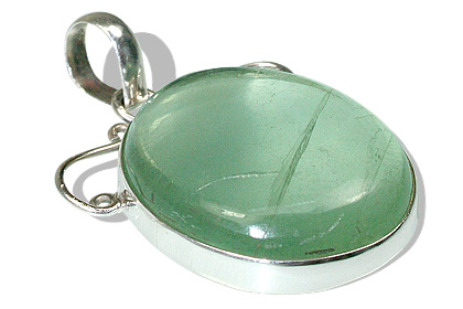 Design 9277: green fluorite pendants
