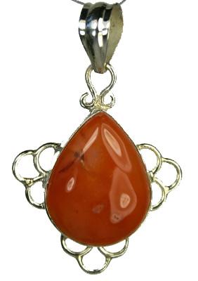 Design 9283: orange carnelian pendants