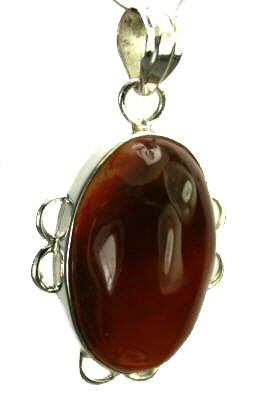 Design 9290: orange carnelian pendants