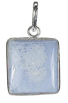 Design 9350: blue,white blue lace agate pendants