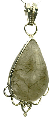Design 9352: white,gold,brown rutilated quartz pendants