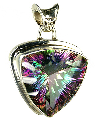 Design 9386: blue,purple,multi-color mystic quartz pendants