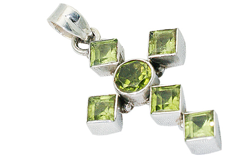 Design 9401: green peridot christian, cross, religious pendants