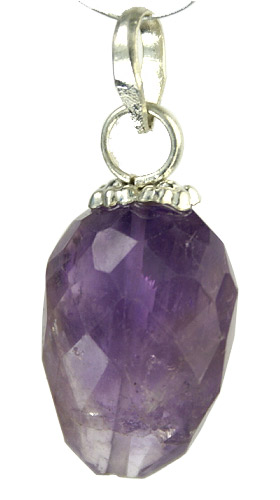 Design 9437: purple amethyst pendants