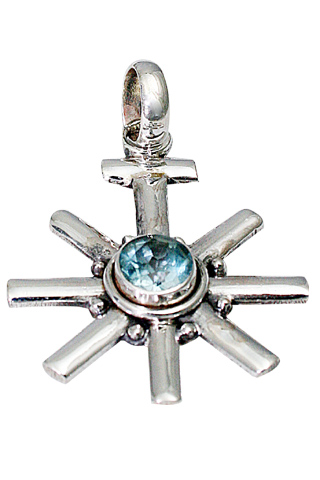 Design 9479: blue blue topaz star pendants