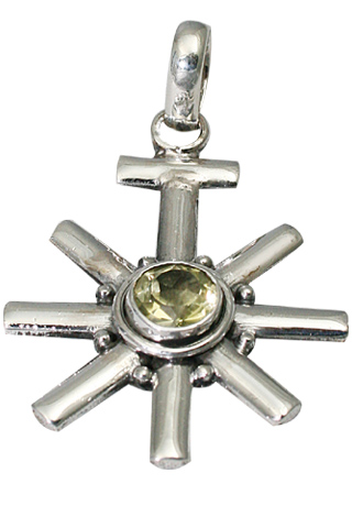 Design 9480: yellow lemon quartz star, sun pendants