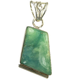 Design 9496: green chrysoprase pendants
