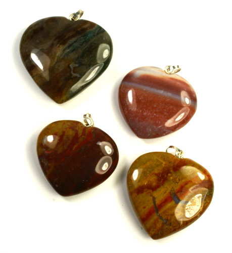 Design 9529: red,orange,brown jasper pendants