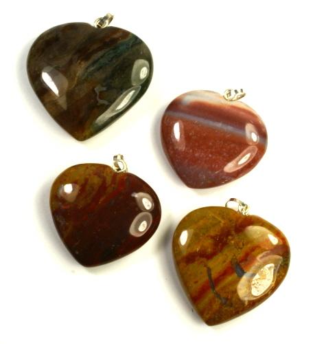 Design 9529: red,orange,brown jasper pendants