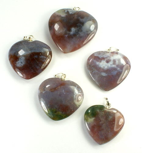 Design 9530: purple,red jasper pendants