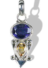 Design 9531: purple,yellow iolite pendants