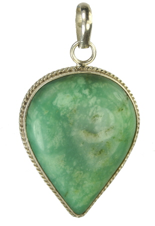Design 9541: green chrysoprase pendants
