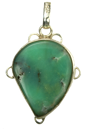 Design 9548: green chrysoprase pendants
