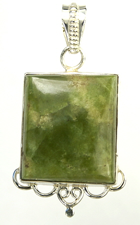 Design 9549: green chrysoprase pendants
