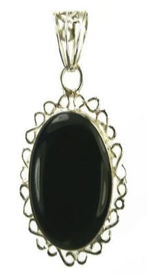 Design 9550: black onyx pendants