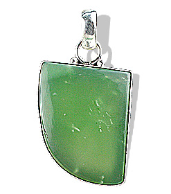 Design 9557: green onyx pendants