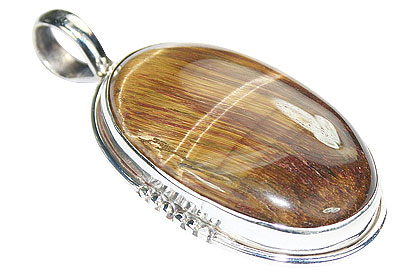 Design 9633: yellow tiger eye pendants