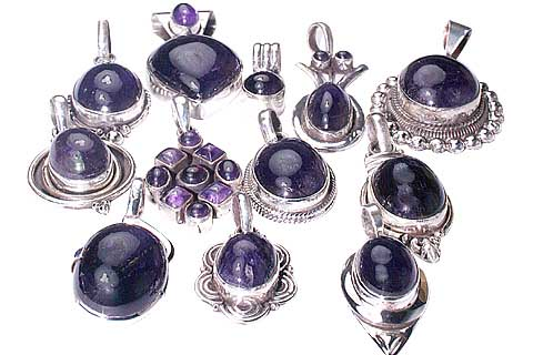 Design 9890: Purple amethyst pendants