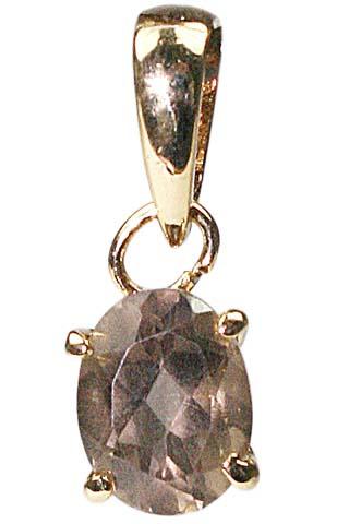 Design 9934: brown smoky quartz pendants