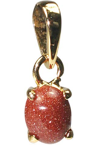 Design 9938: Rust goldstone pendants