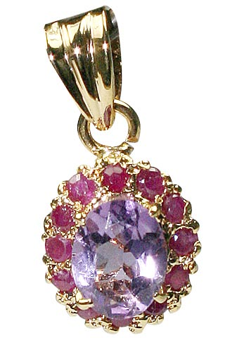 Design 9944: pink,purple amethyst pendants