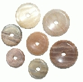Design 11100: brown,white,yellow moonstone donut pendants