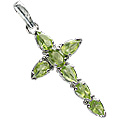 Design 12343: green peridot cross pendants