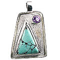 Design 12542: green,purple turquoise american-southwest pendants
