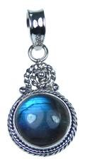Design 20403: Grey, Blue labradorite pendants