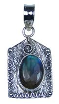 Design 20410: Grey, Blue labradorite pendants