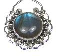 Design 20412: Grey, Blue labradorite pendants