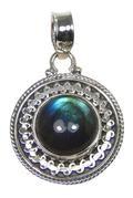 Design 20417: Grey, Blue labradorite pendants