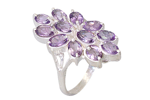 Design 10023: purple amethyst flower rings