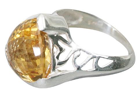 Design 10031: yellow citrine rings