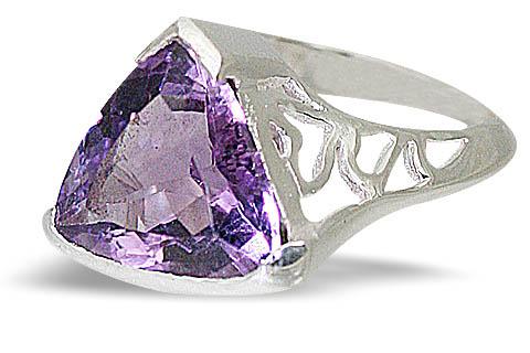 Design 10032: purple amethyst solitaire rings