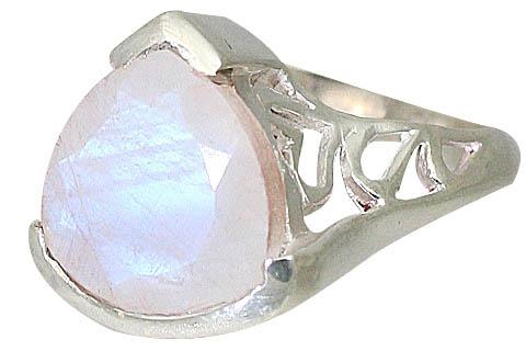 Design 10033: white moonstone estate rings
