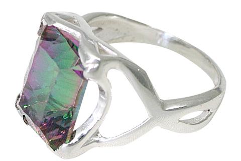 Design 10036: green,pink,purple mystic quartz contemporary rings