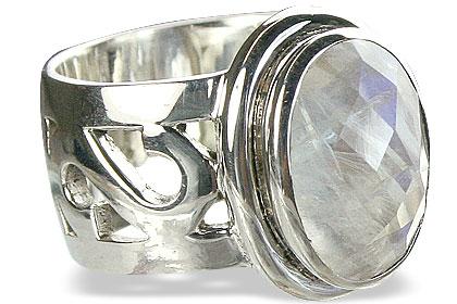 Design 10038: white moonstone estate rings