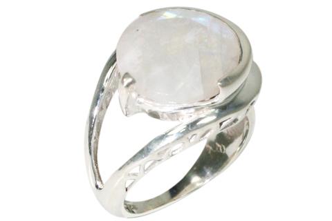 Design 10075: white moonstone rings