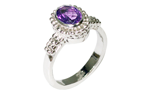 Design 10092: purple amethyst staff-picks rings