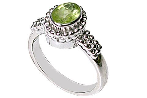 Design 10093: green peridot estate rings