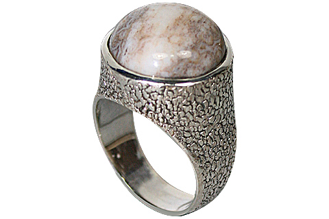 Design 10157: brown,gray,white jasper rings