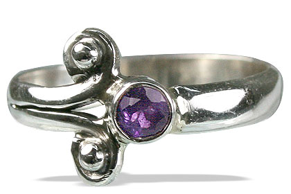 Design 10181: purple amethyst contemporary rings