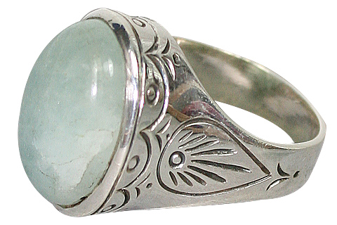 Design 10192: green aventurine gothic-medieval rings