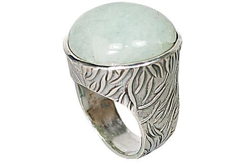 Design 10195: green aventurine rings