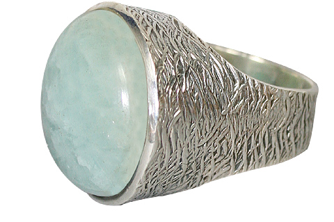 Design 10196: Green chalcedony american-southwest, vintage rings