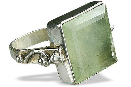 Design 10217: green prehnite rings