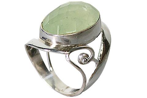 Design 10218: green prehnite rings